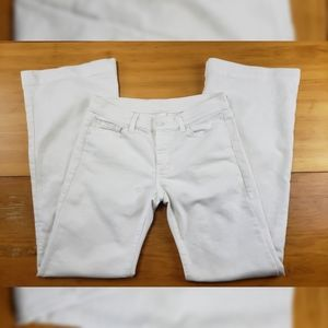 AS IS* 7 for All Mankind White Flare Leg Jeans 28
